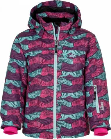 Dívčí lyžařská bunda KILPI GENOVESA-JG Zelená Barva: Zelená, Velikost: 164