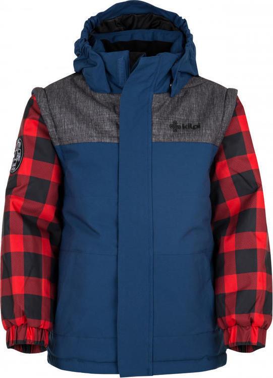 Chlapecká zimní bunda KILPI KIWI-JB Tmavě modrá Barva: Modrá, Velikost: 110