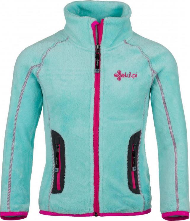 Dívčí fleecová bunda KILPI ERIS-JG Tyrkysová Barva: Tyrkysová, Velikost: 164