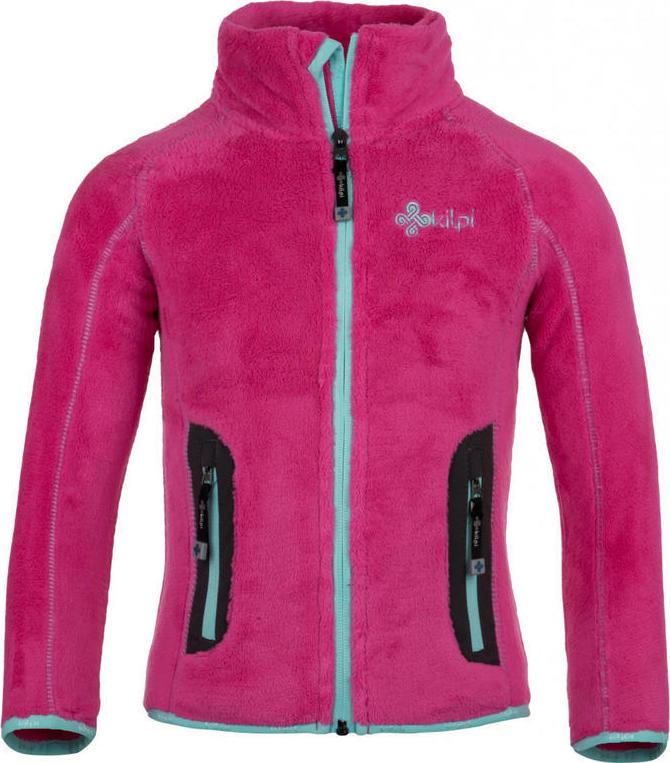 Dívčí fleecová bunda KILPI ERIS-JG Růžová Barva: Růžová, Velikost: 164