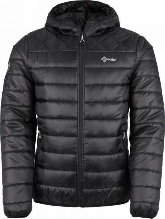 Pánská zimní prošívaná bunda KILPI FITZROY-M Černá Barva: Černá, Velikost: M