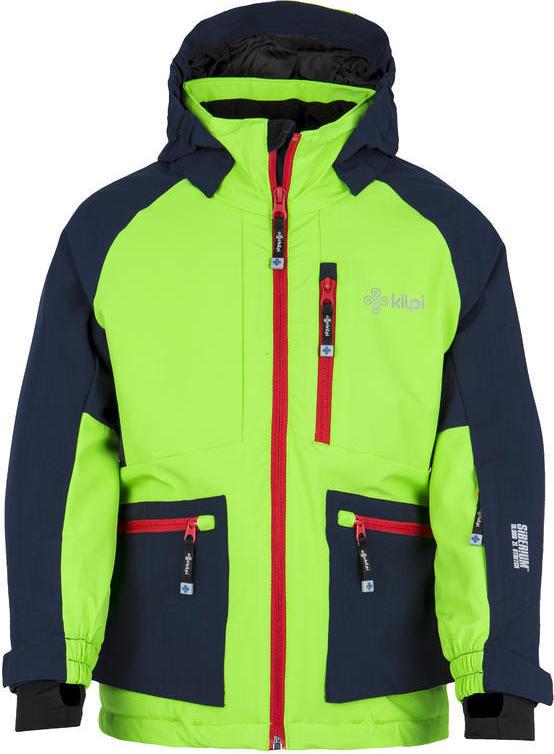 Chlapecká zimní bunda KILPI JACKYL-JB Světle zelená Barva: Zelená, Velikost: 110