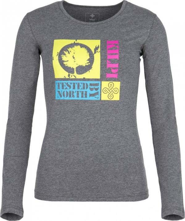 Dámské tričko KILPI TREE-W Melange Barva: Šedá, Velikost: 36