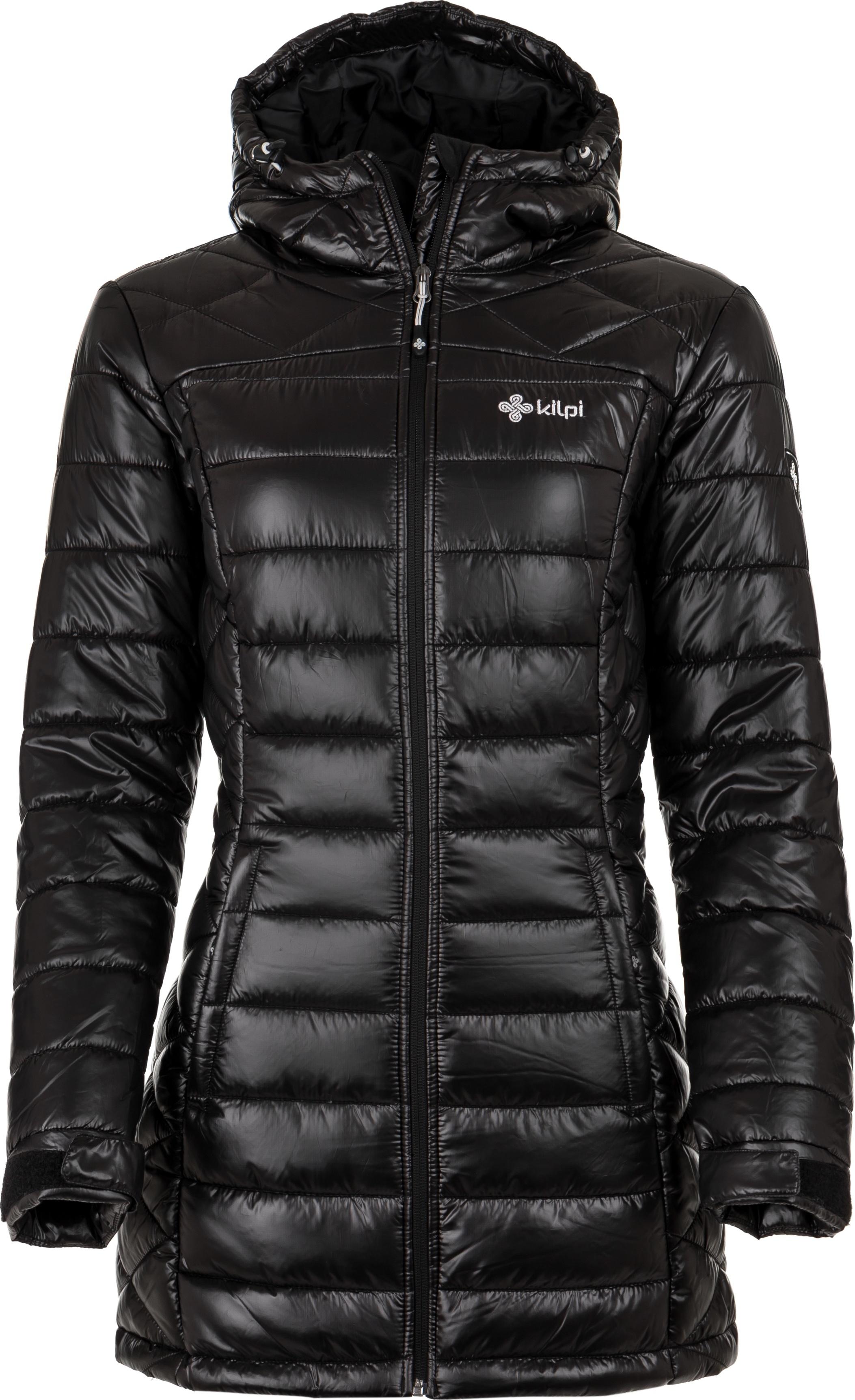 Dámský zimní kabát KILPI SYDNEY-W Černá Barva: Černá, Velikost: 46