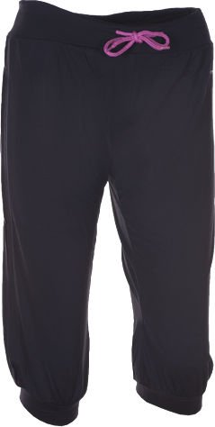 Dámské sportovní 3/4 kalhoty KILPI ROANOKE II. černá Barva: Černá, Velikost: 46