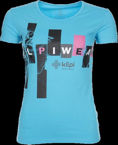 Dámské tričko KILPI JANA Modrá Barva: Modrá, Velikost: 36