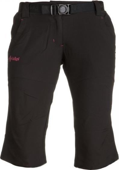 Dámské outdoorové 3/4 kalhoty KILPI TURBANA Černá Barva: Černá, Velikost: 36