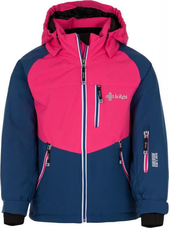 Dívčí lyžařská bunda KILPI MONTANA-JG Tmavě modrá Barva: Modrá, Velikost: 122
