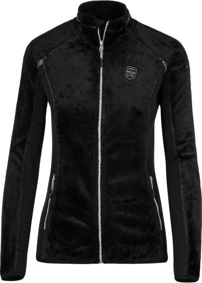 Dámská fleecová mikina KILPI SKATHI-W černá Barva: Černá, Velikost: 46