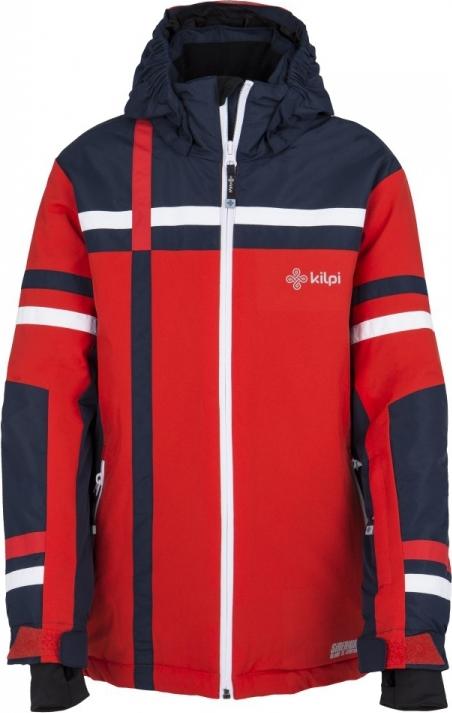 Dětská zimní lyžařská bunda KILPI TITAN-JB Červená Barva: Červená, Velikost: 134