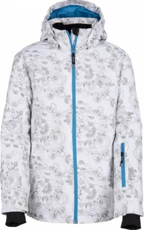 Dívčí zimní bunda KILPI GENOVESA-JG Bílá Barva: Bílá, Velikost: 122