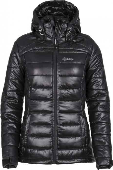 Dámská zimní prošívaná bunda KILPI GIRONA-W Černá Barva: Černá, Velikost: 34