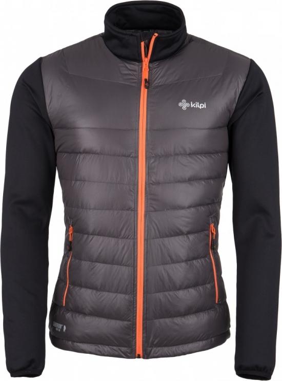 Pánská lehká strečová bunda KILPI BAFFIN-M-Tmavě šedá Barva: Šedá, Velikost: L