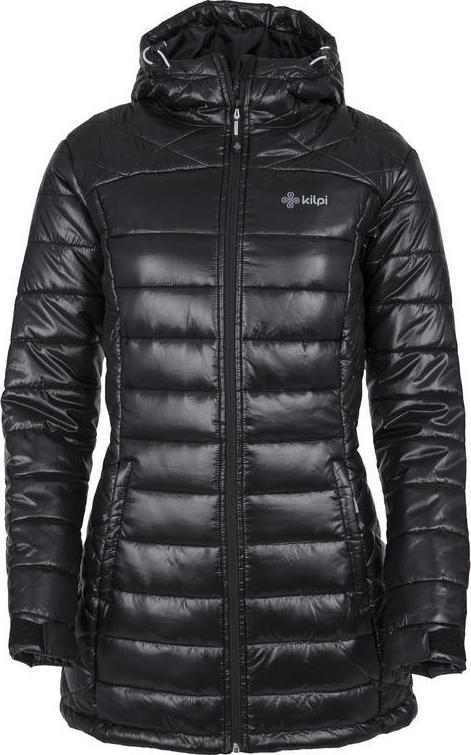 Dámský zimní prošívaný kabát KILPI SYDNEY-W Černá Barva: Černá, Velikost: 42