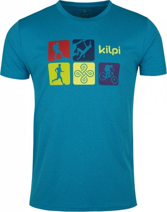 Pánské funkční tričko KILPI GIACINTO-M Modrá Barva: Modrá, Velikost: 3XL
