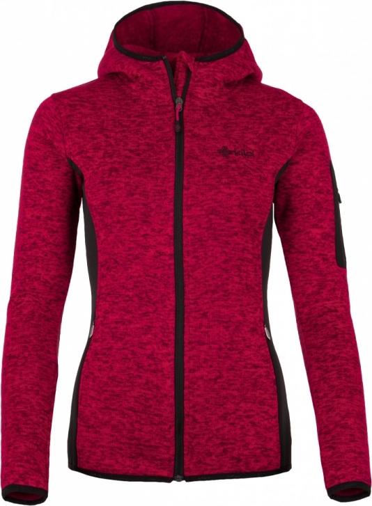 Dámská fleecová mikina KILPI BANDAI-W Růžová Barva: Růžová, Velikost: 34