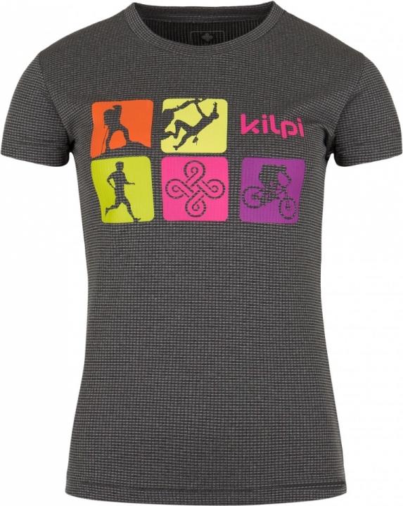 Dámské funkční tričko KILPI SANDORA-W Tmavě šedá Barva: Šedá, Velikost: 38