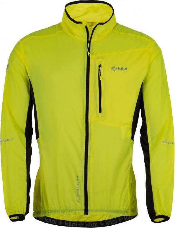 Kilpi Pánská celorozepínací bunda AIRRUNNER-M KILP žlutá Barva: Žlutá, Velikost: XS