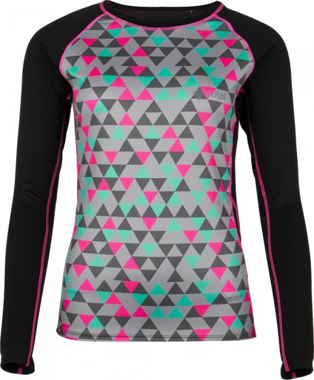 Dámské funkční tričko KILPI SUNBOW-W Černá Barva: Černá, Velikost: 42