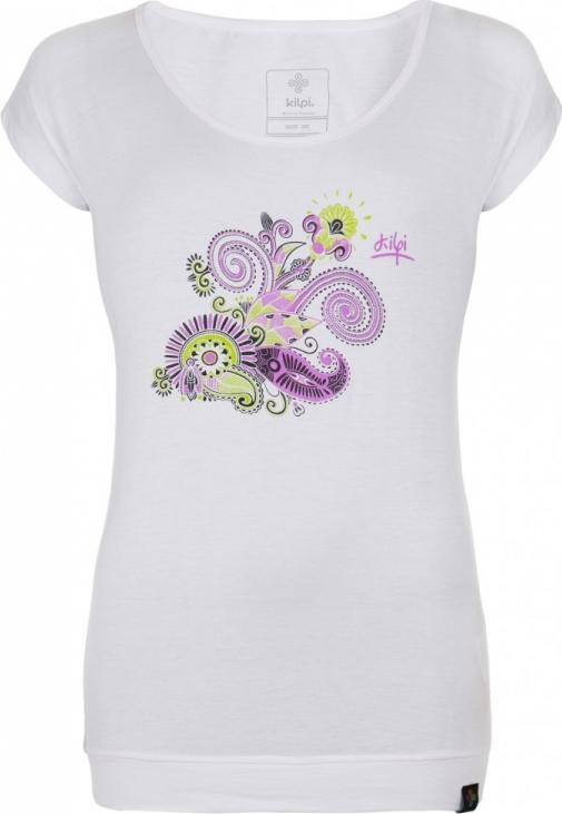 Dámské tričko KILPI LINDA-W Bílá Barva: Bílá, Velikost: 40