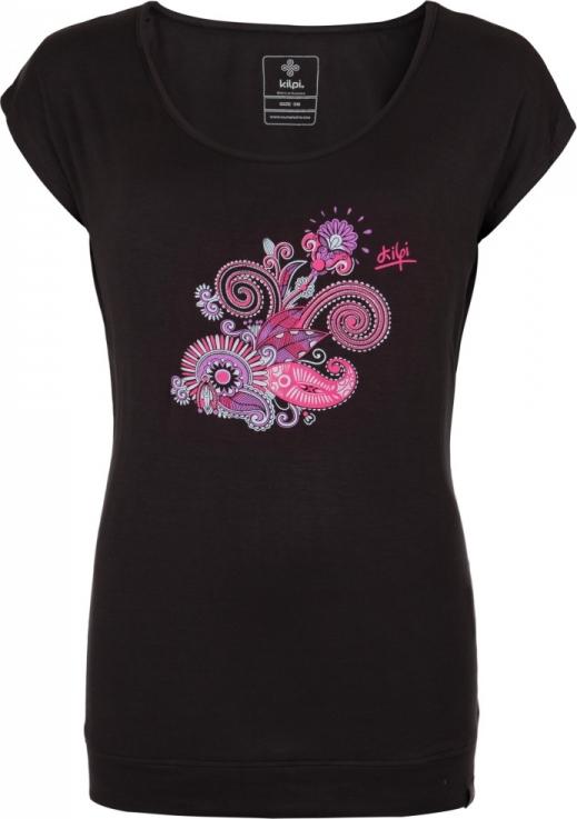 Dámské tričko KILPI LINDA-W Černá Barva: Černá, Velikost: 36