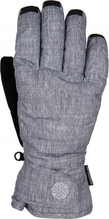 Pánské rukavice KILPI ENDINO šedá Barva: Šedá, Velikost: S