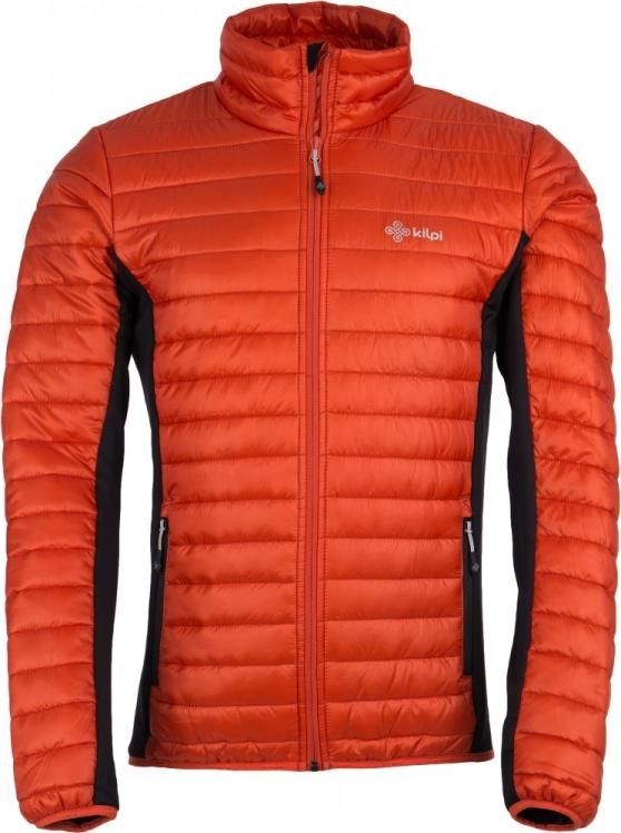 Pánská prošívaná bunda KILPI ISAIAH-M Oranžová Barva: Oranžová, Velikost: L