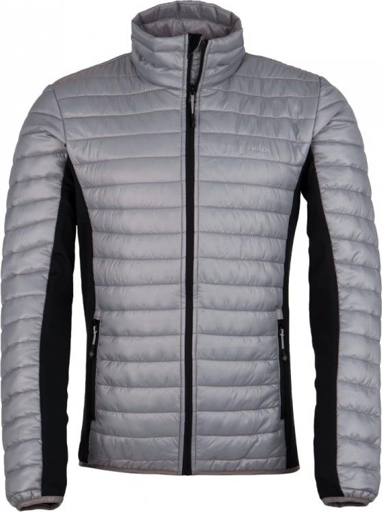 Pánská prošívaná bunda KILPI ISAIAH-M Světle šedá Barva: Šedá, Velikost: S