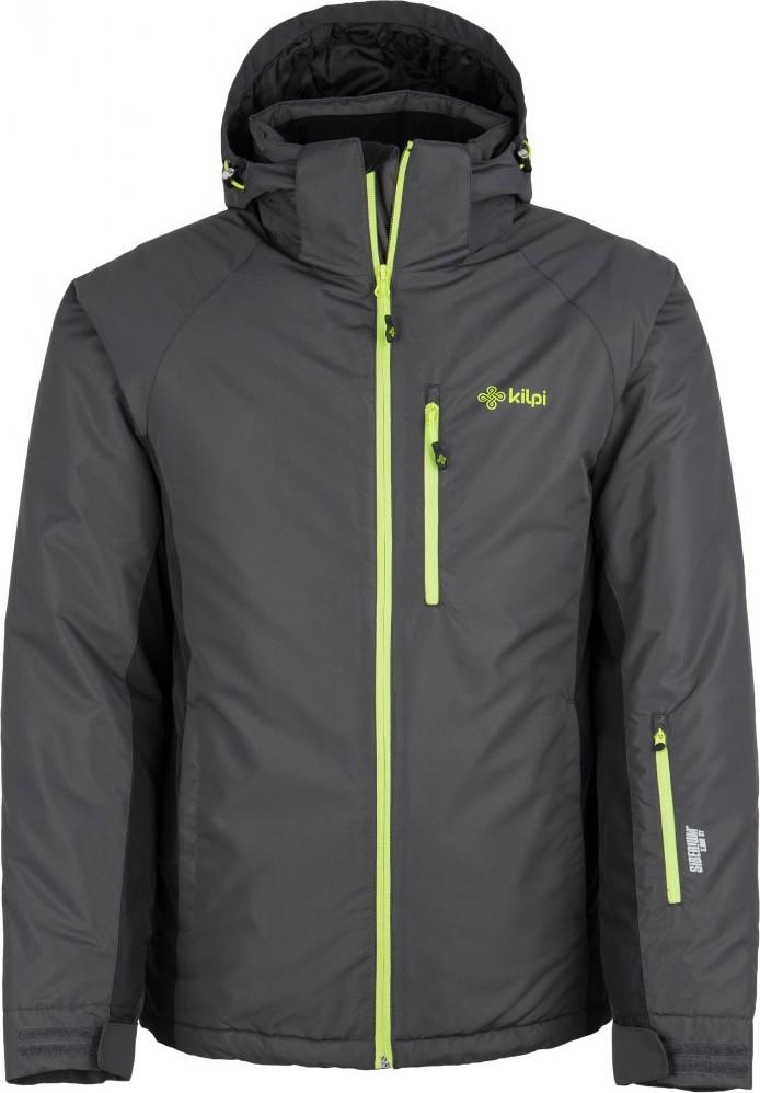 Pánská lyžařská bunda KILPI CHIP-M Tmavě šedá Barva: Šedá, Velikost: XL
