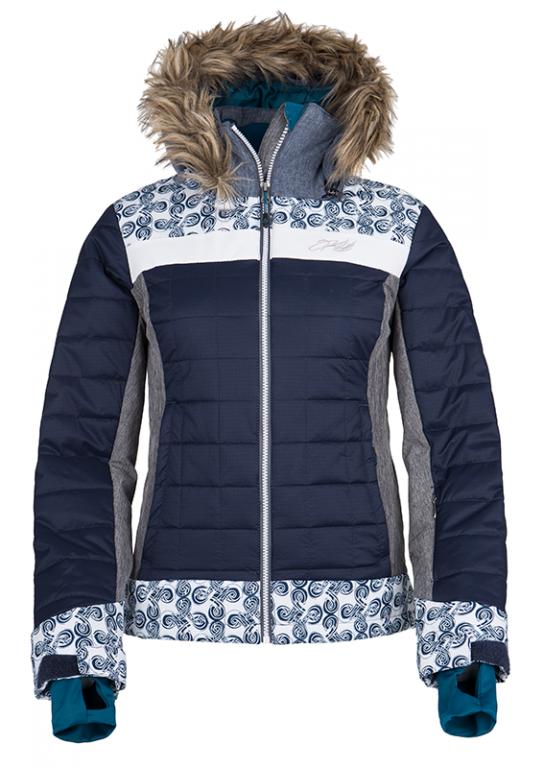 Dámská zimní technická bunda KILPI LEDA-W Tmavě modrá Barva: Modrá, Velikost: 34