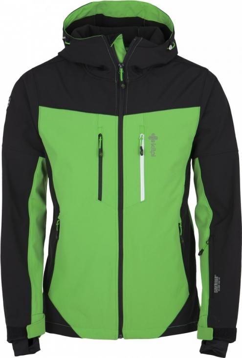 Pánská softshellová lyžařská bunda KILPI AXIS-M Zelená Barva: Zelená, Velikost: 3XL