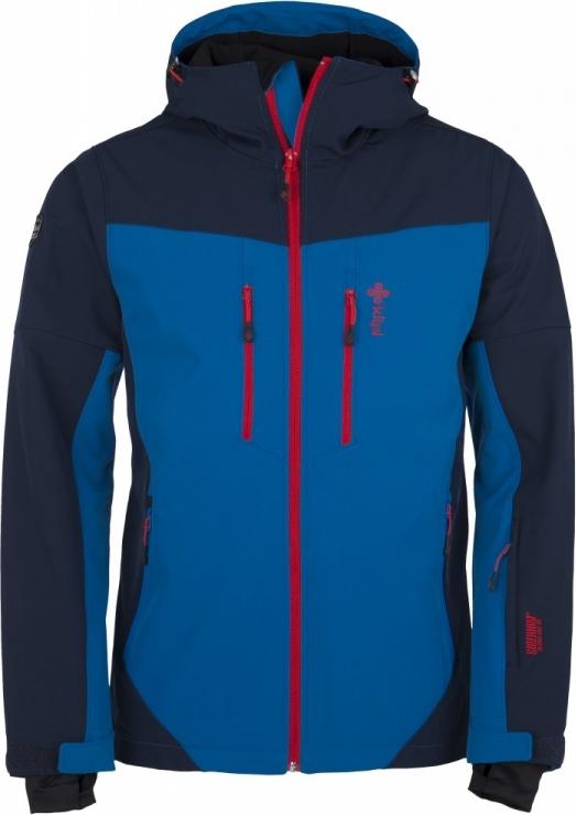 Pánská softshellová lyžařská bunda KILPI AXIS-M Modrá Barva: Modrá, Velikost: 3XL