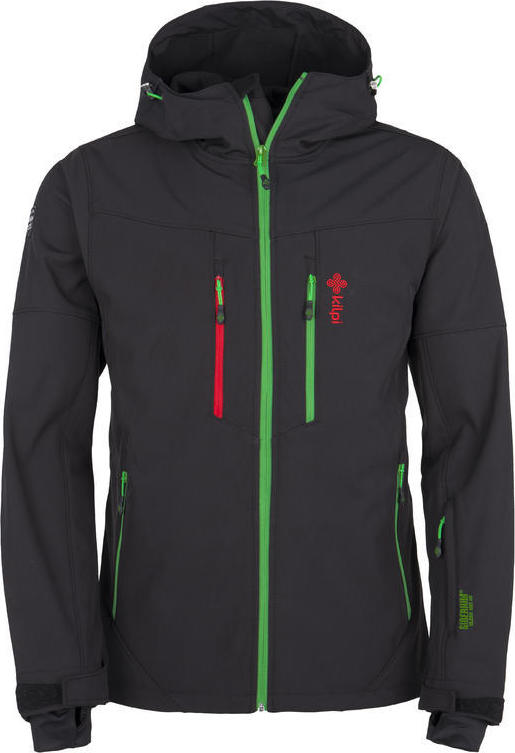 Pánská softshellová zimní bunda KILPI AXIS-M Černá Barva: Černá, Velikost: M