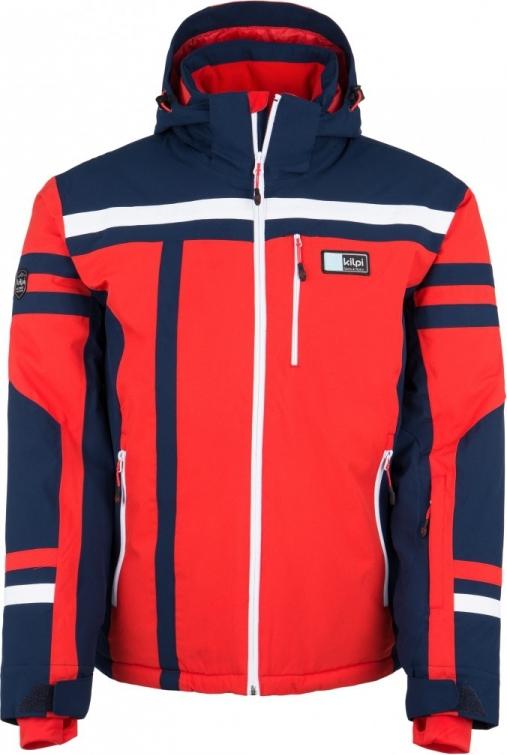Pánská zimní lyžařská bunda KILPI TITAN-M červená Barva: Červená, Velikost: M