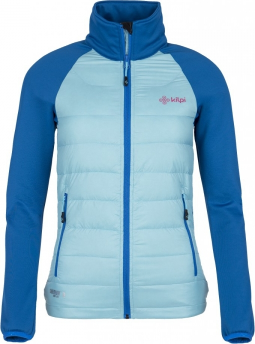 Dámská lehká strečová bunda KILPI BAFFIN-W Světle modrá Barva: Modrá, Velikost: 38