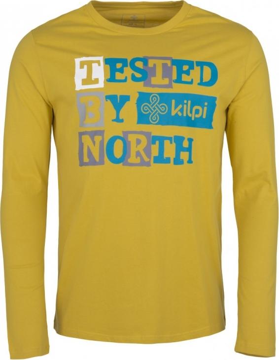 Pánské tričko KILPI TESTED-M Khaki Barva: Khaki, Velikost: S