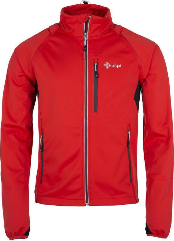 Pánská softshelová bunda KILPI TRANSFORMER-M Červená Barva: Červená, Velikost: M