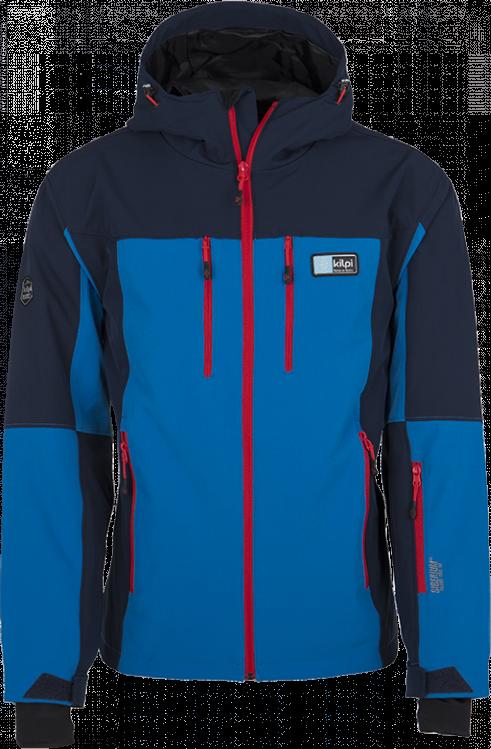 Pánská softshellová lyžařská bunda KILPI VANUATU-M modrá Barva: Modrá, Velikost: XXL