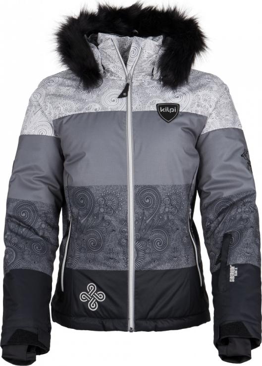 Dámská zimní lyžařská bunda KILPI EUFANA-W Černá Barva: Černá, Velikost: 34