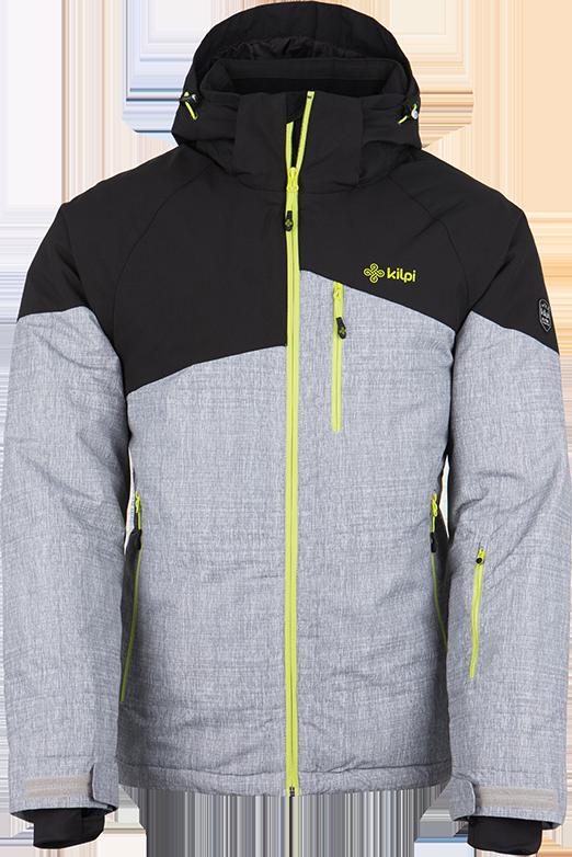 Pánská lyžařská bunda KILPI OLIVER-M světle šedá Barva: Šedá, Velikost: 3XL