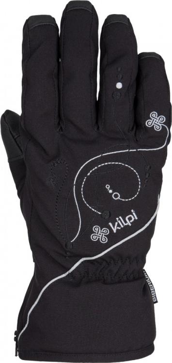 Dámské rukavice KILPI BERNINA černé Barva: Černá, Velikost: S