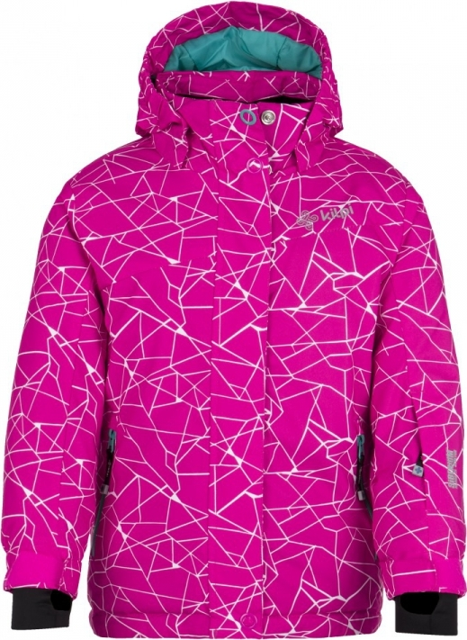 Dívčí zimní bunda KILPI NIESKO-JG Růžová Barva: Růžová, Velikost: 98
