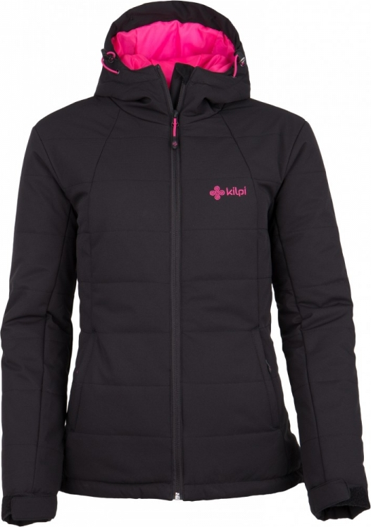 Dámská zimní bunda KILPI PARIS-W Černá Barva: Černá, Velikost: 34