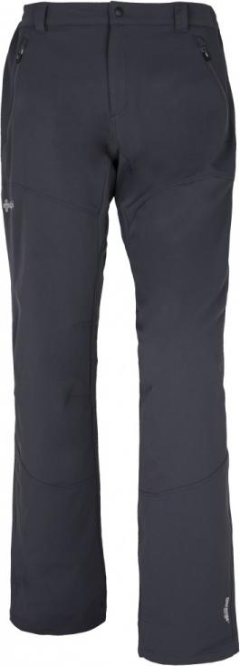 Pánské strečové kalhoty KILPI LAGO-M tmavě šedá Barva: Šedá, Velikost: S