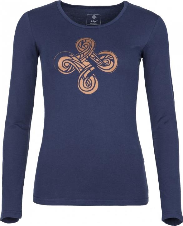 Dámské tričko KILPI KALEVA-W Tmavě modrá Barva: Modrá, Velikost: 42