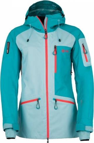 Dámská třívrstvá bunda KILPI NALAU-W Světle modrá Barva: Modrá, Velikost: 38
