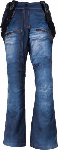 Dámské snowboardové kalhoty KILPI JEANSTER-W Modrá Barva: Modrá, Velikost: 40