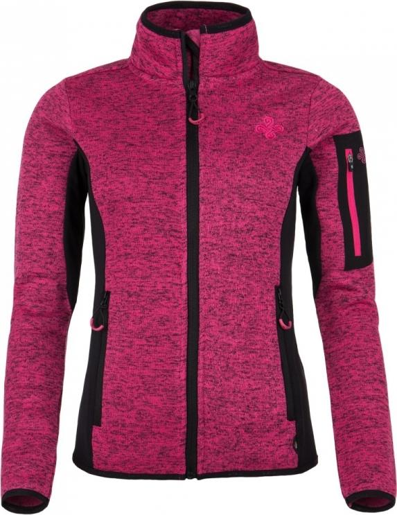 Dámská fleecová mikina KILPI RIGANA-W Růžová Barva: Růžová, Velikost: 34