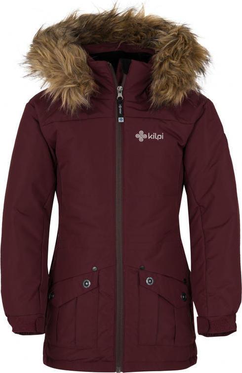 Dívčí zimní bunda KILPI NAMIB-JG Červená Barva: Červená, Velikost: 122