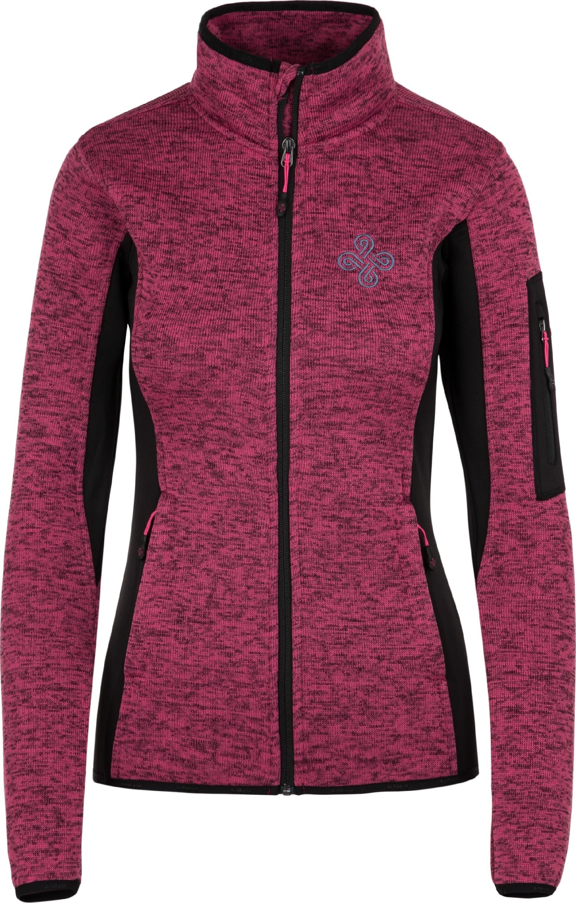Dámská fleecová mikina KILPI RIGANA-W Růžová 18 Barva: Růžová, Velikost: 34